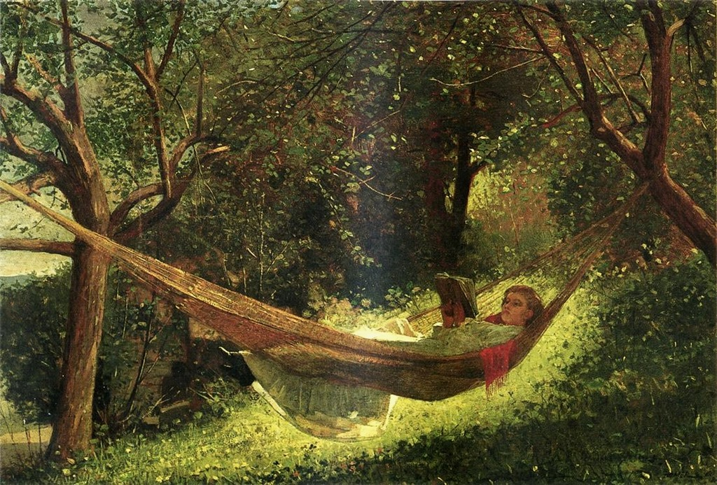 winslow-homer-american-painter-1836-1910-girl-in-a-hammock-1873